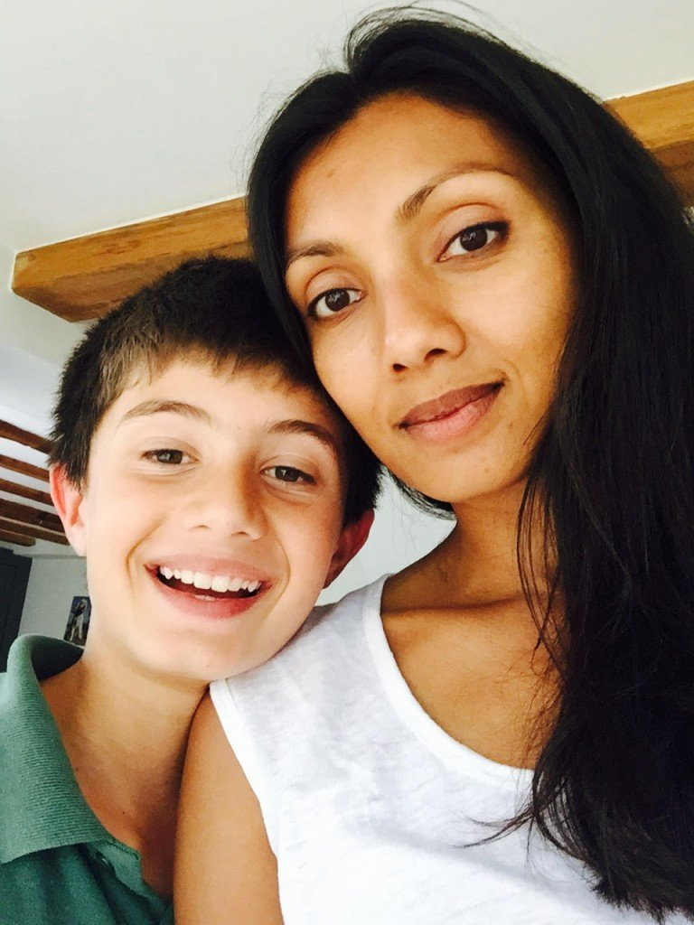 Jai was born with a heart defect. With his mum, Rajni.