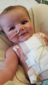 Ethan after his open heart surgery
