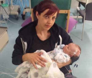 Ethan with mum Vicky